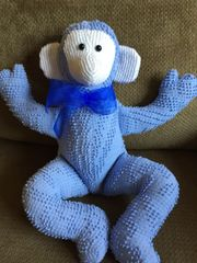 Vintage Chenille Monkey 002