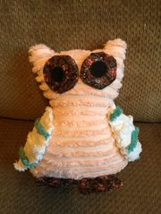 Coral Vintage Chenille Owl