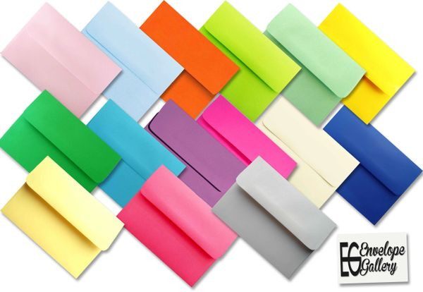 assorted color envelopes for cards invitations announcements