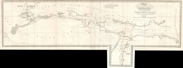 Chart of the Discoveries & Route of his Majesty's Ships Helca and Griper in search of a Northwest Passage...