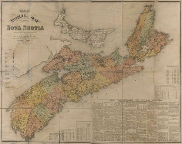 Church's Mineral Map of Nova Scotia.