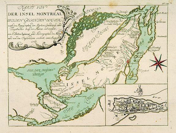 Karte von der Insel Montreal…