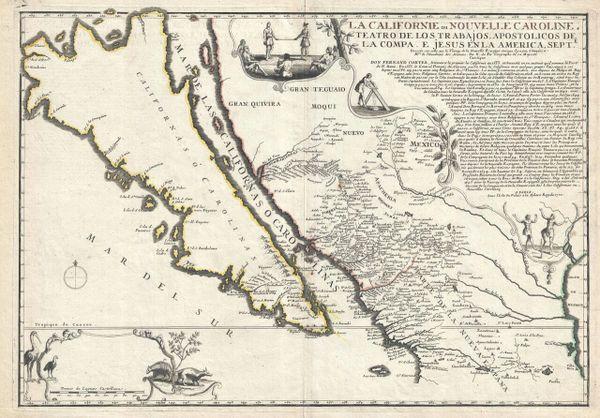 La Californie ou Nouvelle Caroline, Teatro de Los Trabajos, Apostólicos de la Compa. E. jesus en la America Septe...