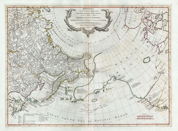 New Pocket Map of the Discoveries made by the Russians on the North West Coast of America...