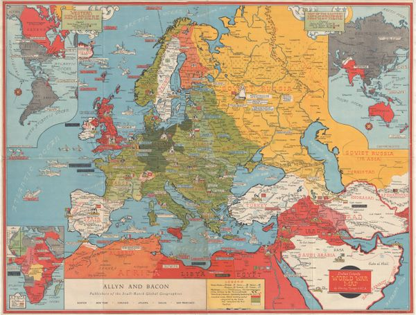 Map of the World War Fronts Dated Events.