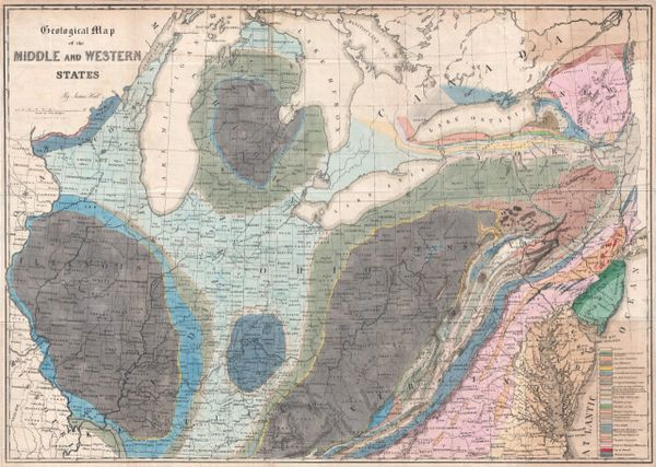 Geological Map of the Middle and Western States.