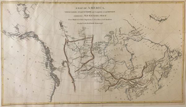 A Map of America between Latitudes 40 and 70 North and Longitudes 45 and 180 West...