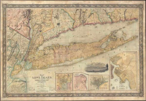 Map of Long Island with the Environs of New-York and the Southern Part of Connecticut...