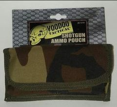 Shotgun Ammo Pouch with Vertical Straps - Color Woodland Camo