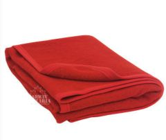 "100% Recycled Wool - 60"" X 88"" Blanket - Red"