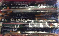 "Chem Light Tactical RED Glow Stick 6"" Pkg of 10"