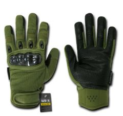Carbon Fiber Knuckle Tactical Glove, OD Green, XX-Large