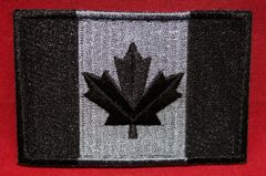 Canada Flag Patch - Black & Grey Subdued