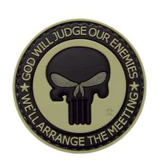 God Will Judge Our Enemies We'll Arrange The Meeting Morale Patch