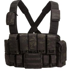 Tactical Chest Rig - Black Multicam