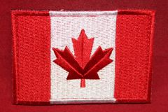 Canada Flag Patch - Red & White