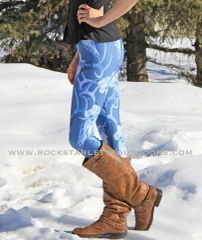 Antler Leggings, Blue Version, NEW! from Rockstarlette Outdoors