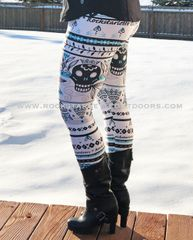 Tattoo Pattern Rockstarlette Outdoors Logo Leggings, NEW! Made in the USA