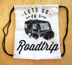 Tote Bag: Drawstring, Lets Go On A Roadtrip