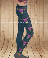 Youth Leggings, Sunset Skull Southwestern Pattern, Sizes 2T-14, Special Edition Featuring the Art of Courtney Starns NEW!
