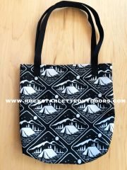 Tote Bag: Camping Pattern, Made in the USA