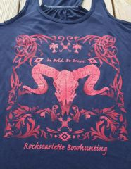 SALE $20 OFF, Tribal Sheep Racerback Bowhunting Tank Top, Be Bold, Be Brave