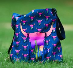 Tote Bag: Sunset Skull Southwestern Special Edition, NEW, Featuring the Art of Courtney Starns