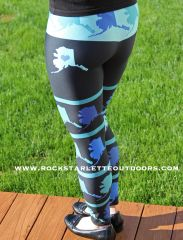 Love Alaska Leggings, All Over Map, Made in the USA