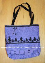 Tote Bag: Purple Arrow Design