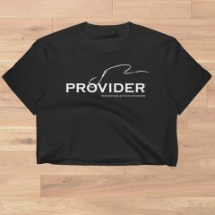 PROVIDER™ Fishing Logo, Crop Top T shirt