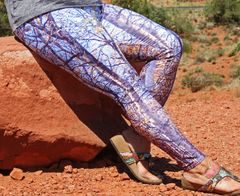 Birch Tree Leggings, Fall Birch Pattern, Made in the USA