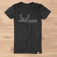 PROVIDER™ Crewneck Fitted T Shirt, Heathered Black