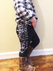 Youth Rockstarlette Outdoors Logo Leggings, NEW!