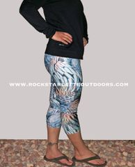 Turkey Feather Leggings, CAPRI Version, Made in the USA