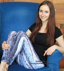Birch Tree Leggings, Snow Birch Pattern, Made in the USA