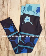 Love Alaska Leggings, All Over Map, ON SALE for a Limited Time!!