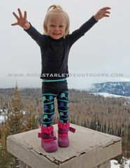 Youth Alaska Love Map Leggings, NEW from Rockstarlette Outdoors
