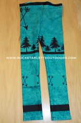 Youth Arrow Leggings, Teal, Rockstarlette Outdoors
