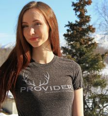PROVIDER™ Fitted Crewneck T Shirt, Heathered Black