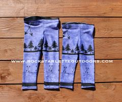 Youth Arrow Leggings, Purple, (2T-14) Made in the USA