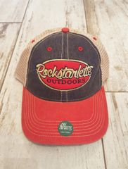 Proud American, Red, White and Blue Rockstarlette Outdoors Logo Mesh Back Hat, NEW!