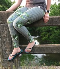 Bass Fishing Leggings With River Rock pattern, ON SALE for a limited time!