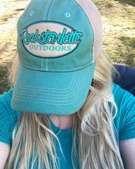 Teal Rockstarlette Outdoors Logo Mesh Back Hat, NEW!