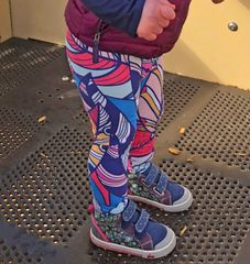 Youth Bright Feather Design Leggings, 2T-14, Made in the USA
