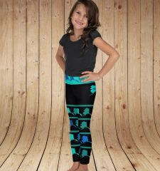 Youth Alaska Love Map Leggings, (2T-14) Made in the USA
