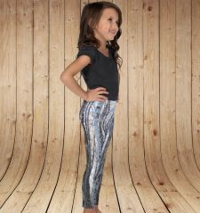 Youth Leggings, Birch Tree Pattern, Snow Birch, NEW! (2T-14) Made in the USA