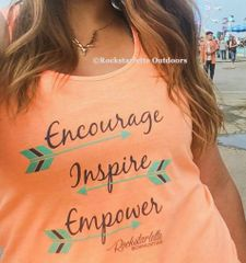 Encourage. Inspire. Empower. Orange Archery Tank Top, SALE $10 OFF