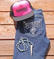 SALE $8 OFF, BOWHUNT, Mesh Back Trucker Hat in Hot Pink