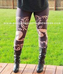 Tribal Sheep Leggings, Earth Tones, NEW from Rockstarlette Outdoors