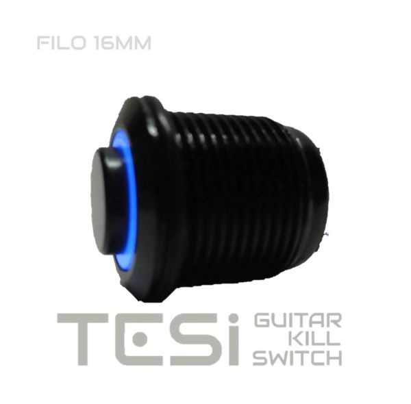 tesi filo 16mm led momentary push button guitar kill